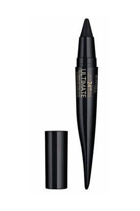 RIMMEL LONDON Suya Dayanıklı Eyeliner - 24 Saat Kalıcı Ultimate Kohl Kajal Black Obsidian 3614225335235
