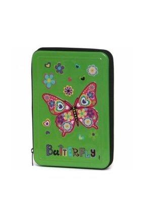 Cem Butterfly Metal Tek Gözlü Kalem Çantası