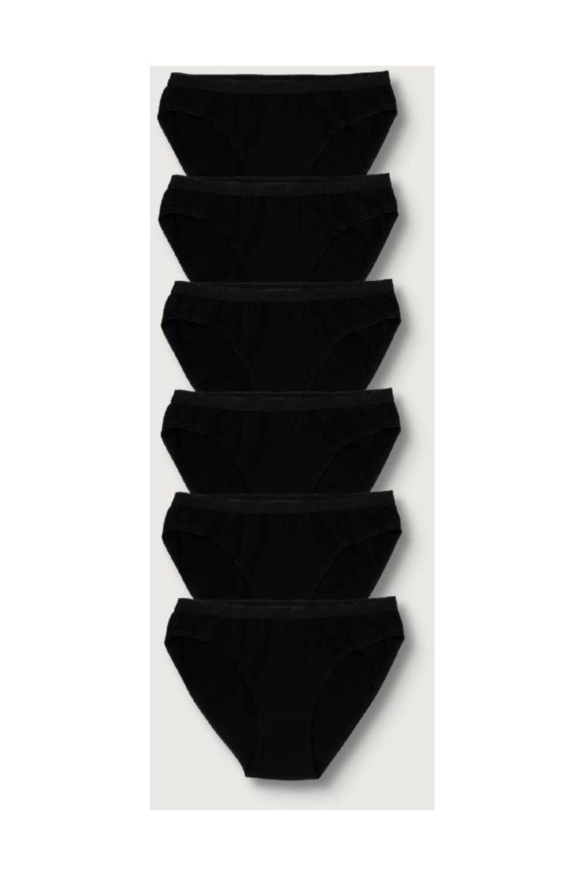 Tutku Kadın Siyah 6'lı Paket  Bikini Külot ELF568T0635CCM6 Siyah Tek Ebat 1