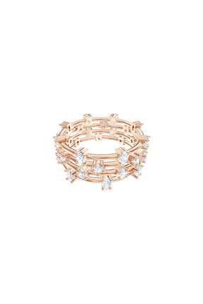 Swarovski Yüzük Moonsun Ring Stones Size 58 Czwh/ros 5486806