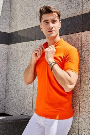 Sateen Men Erkek Oranj Hakim Yaka Slimfit T-Shirt STN844ETS112