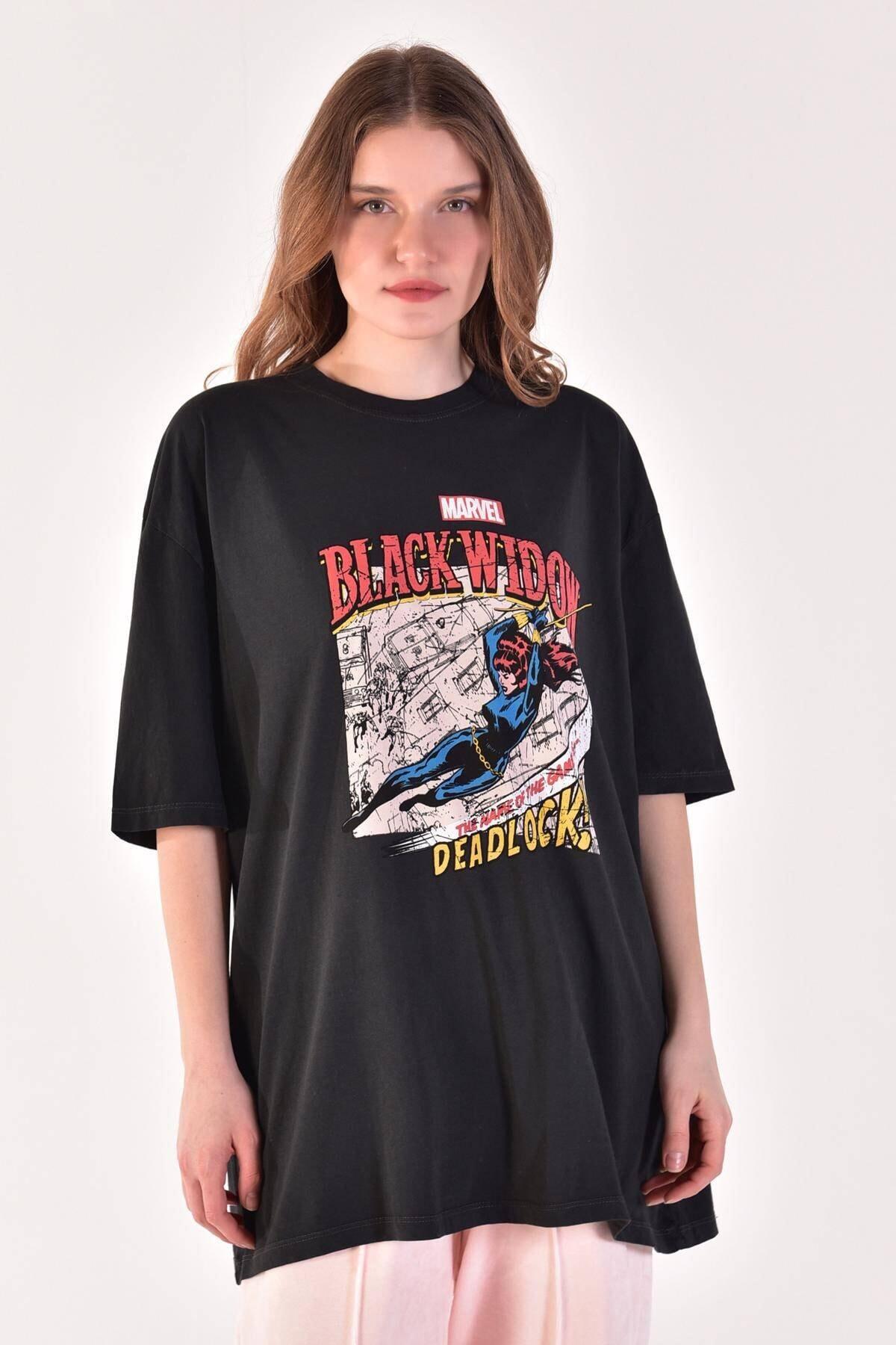 Addax Kadın Füme Baskılı Tişört P9396 ADX-0000021849 1