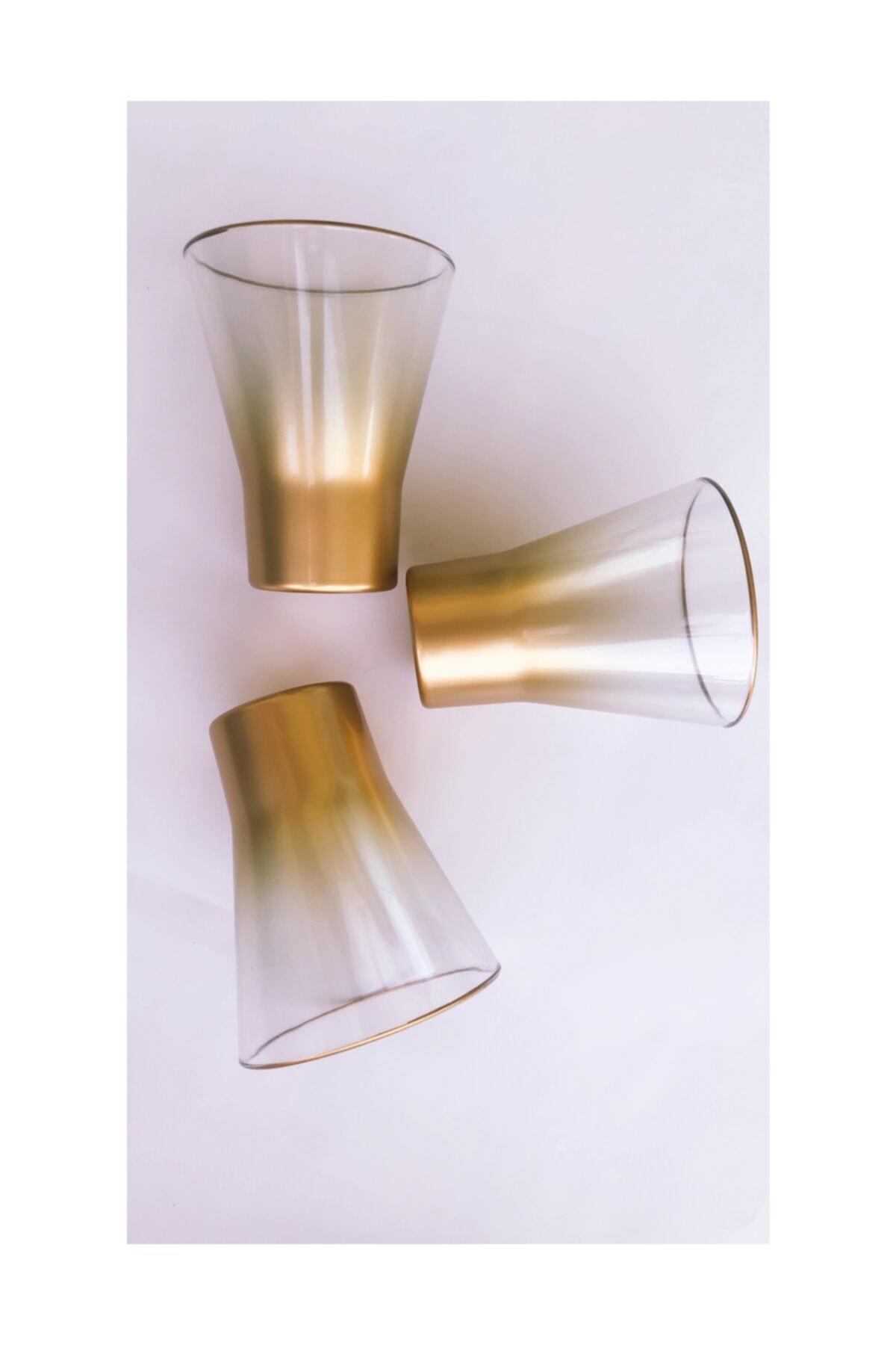 Sigma 3'lü Altın Renk Bardak Seti 1