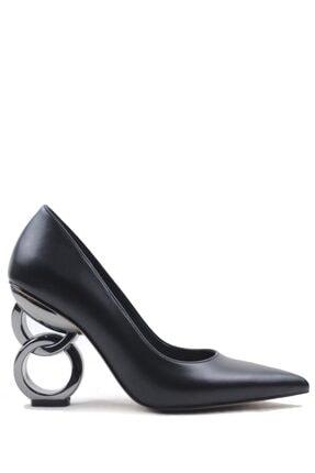 Buffalo Cırcle Heel Black Topuklu Ayakkabı