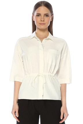 Network Kadın Regular Fit Beyaz Gömlek 1075243
