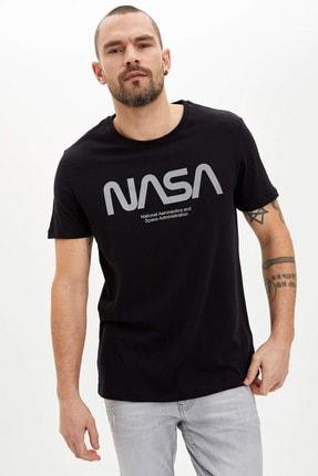 DeFacto Erkek Siyah NASA Lisanslı T-shirt N8867AZ.20SM.BK27