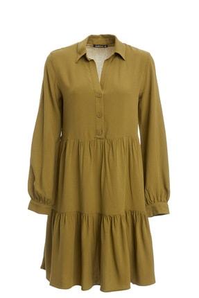 DeFacto Kadın Haki Desenli Dokuma Elbise N9765AZ.20SM.KH69