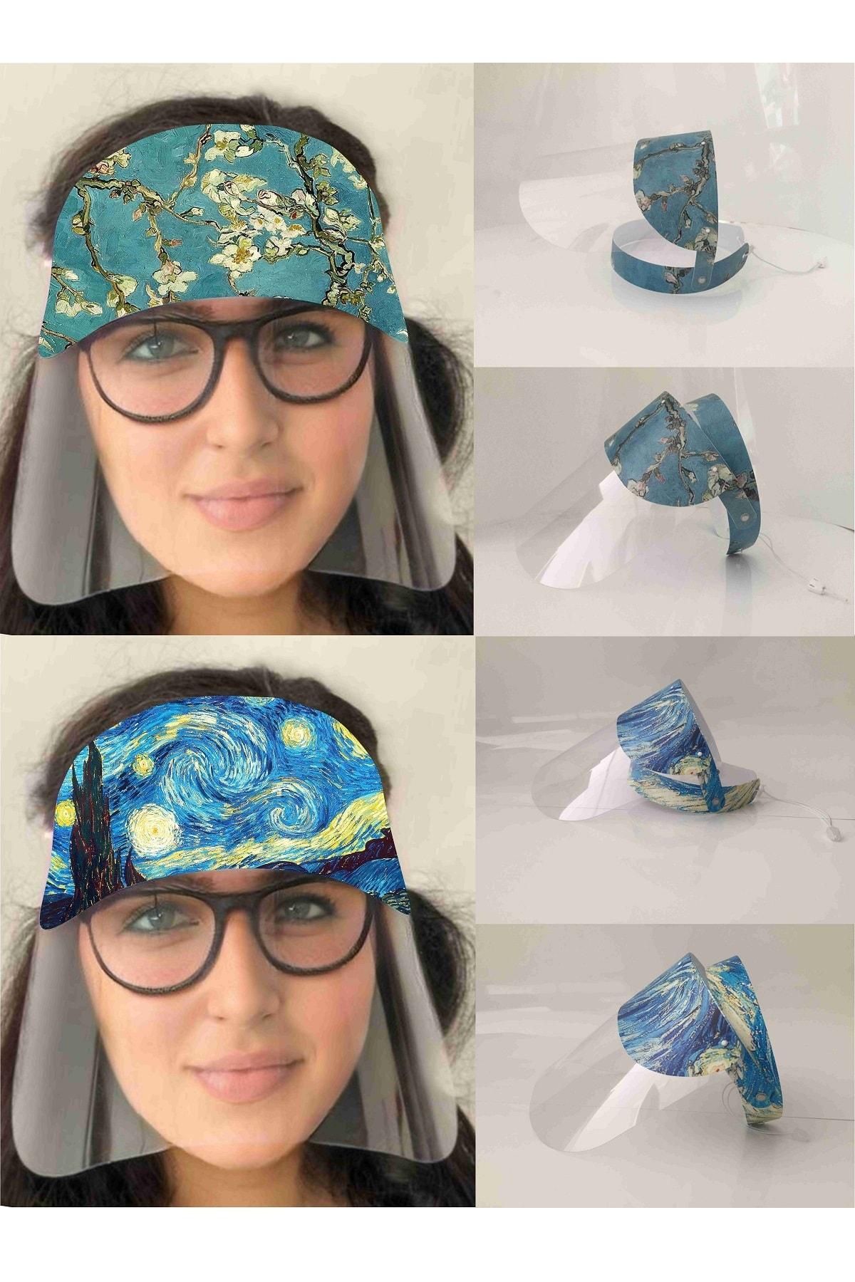 TİNK Yüz Koruyucu Siperlik Maske Gölgelikli Van Gogh 2'Li Set - Yüz Maskesi