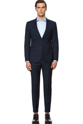 Network Erkek Kareli Lacivert Takım Elbise 1071310