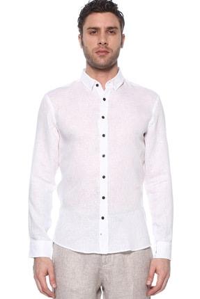 Network Erkek Beyaz Keten Gömlek 1073950