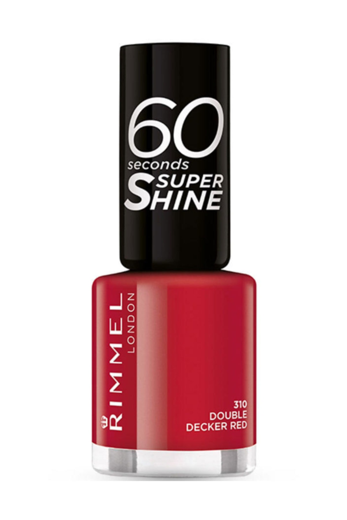 RIMMEL LONDON 60 Saniyede Kuruyan Oje - 60 Seconds Super Shine 310 Double Decker Red 3614220616834 1