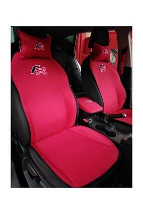 otomind Seat Fr Logo Nakışlı Kırmızı Ön Ikili Oto Koltuk Kılıfı