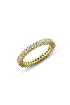 Gümüş Çarşısı Kadın Gold Renk Tek Sıra Tamtur Yüzük