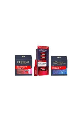 L'Oreal Paris L'oréal Paris Revitalift Yaşlanma Karşıtı Gündüz Ve Gece Bakım Kremi (50 Ml) + 7 Günlük Kür Ampül
