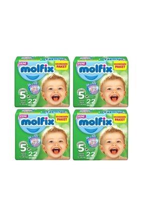 Molfix Bebek Bezi Junior Plus 5+ Numara 13-20 Kg 88 Adet 4x22