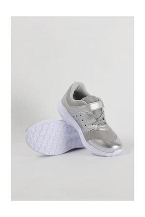 Vicco Kız Çocuk Gümüş Renk Cırtlı Hafif Ve Rahat Spor Ayakkabı