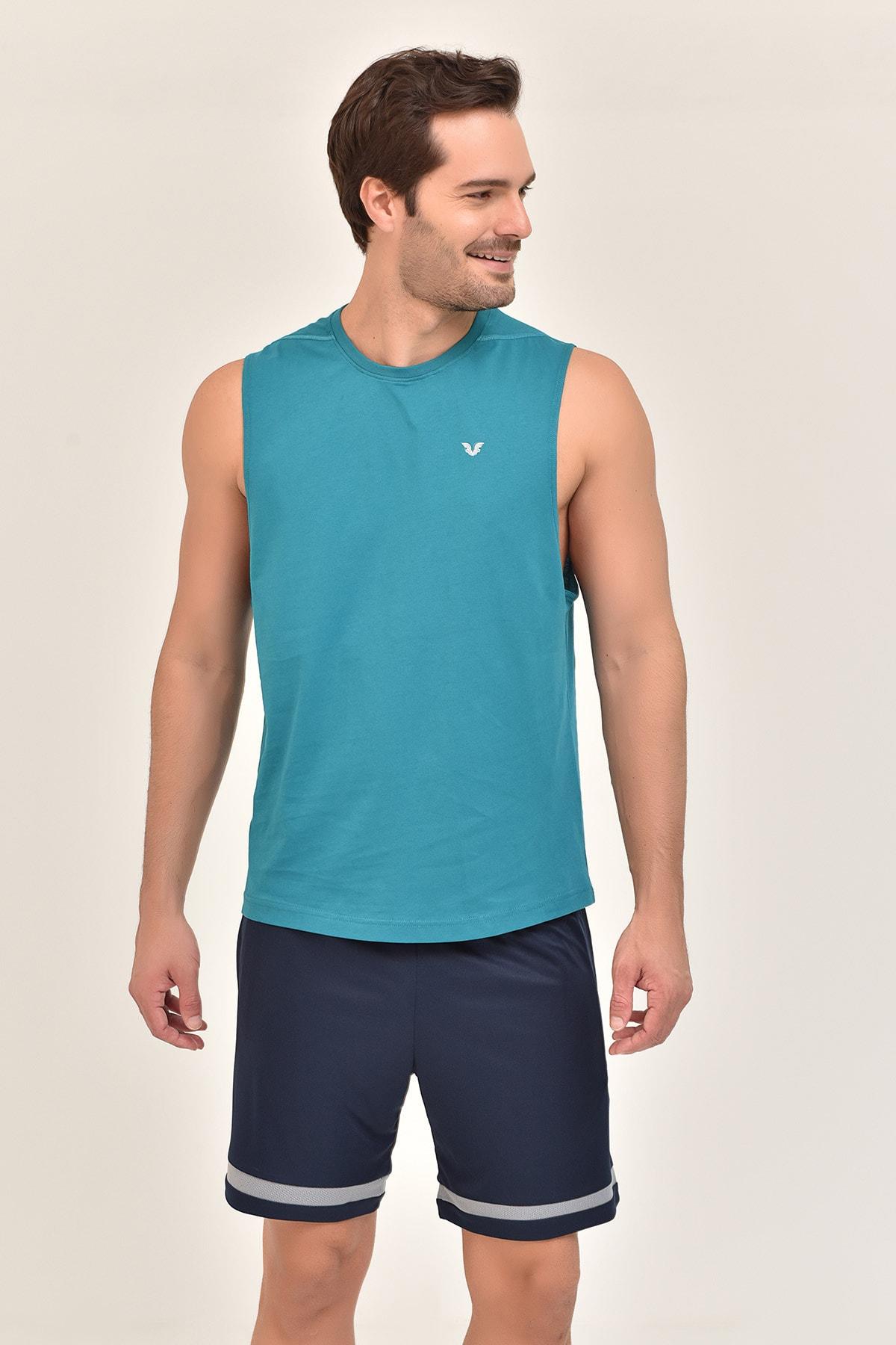 bilcee Yeşil Pamuklu Erkek Atlet FS-1622 2