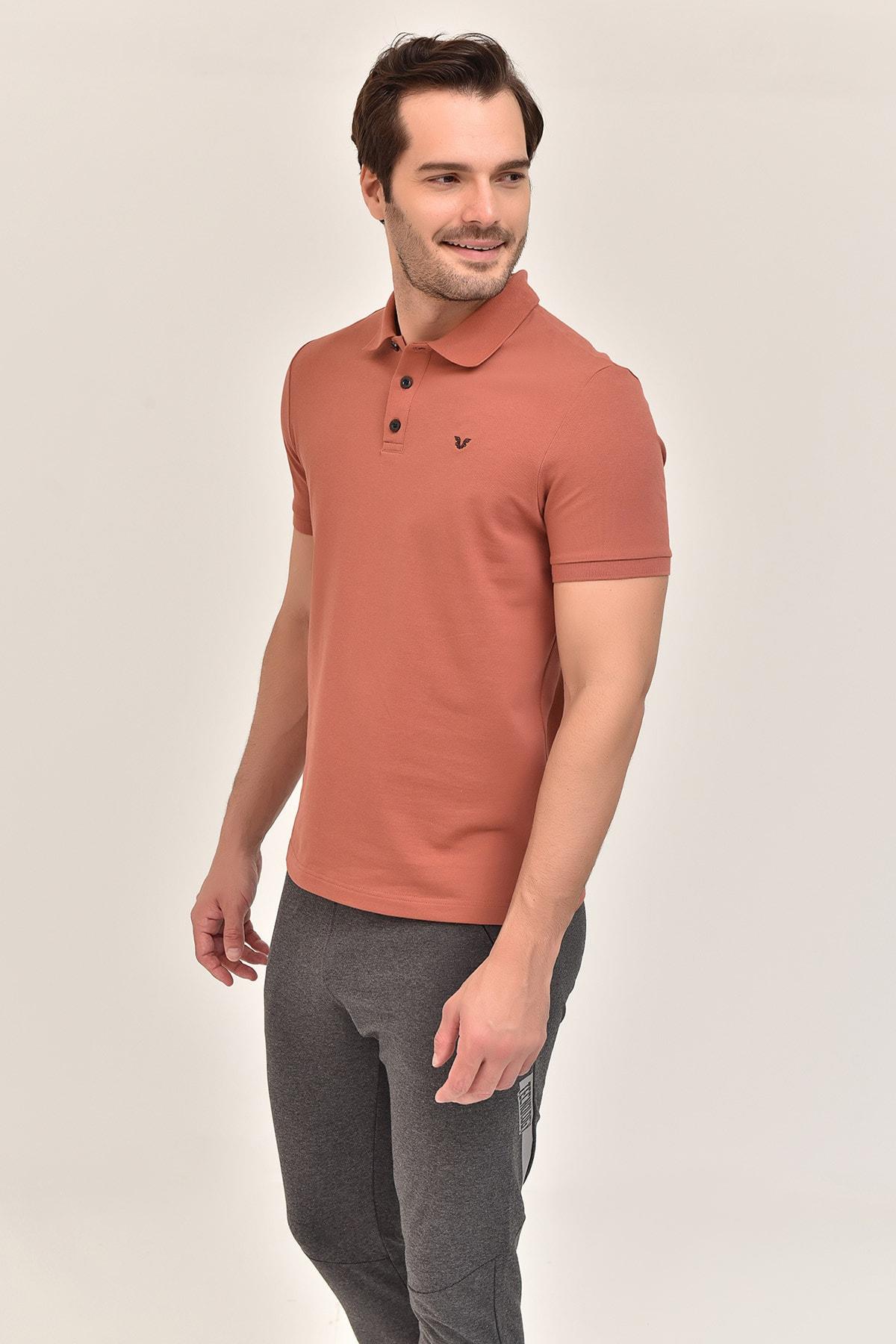 bilcee Kahverengi Erkek T-Shirt GS-8982 2