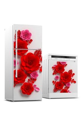 Tilki Dünyası Buzdolabı Ve Bulaşık Makinesi Takım Sticker 0192