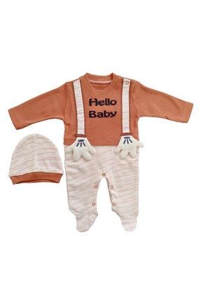 Annora Mevsimlik 2 Li Bereli Hello Baby Nakışlı