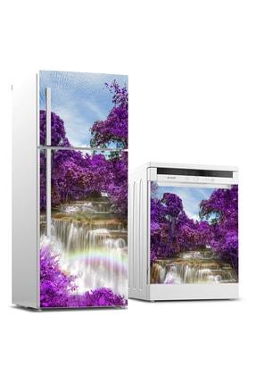 Tilki Dünyası Buzdolabı Ve Bulaşık Makinesi Takım Sticker 0123