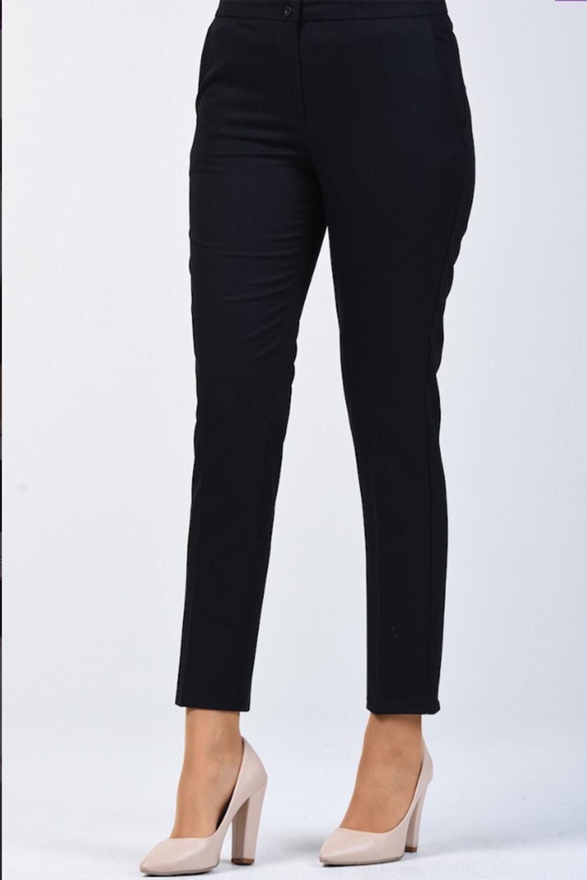 Elite Büyük Beden Düz Paça Kadın Pantolon 1