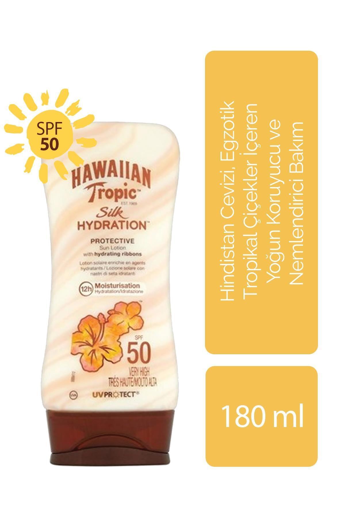 Hawaiian Tropic Hindistan Cevizi, Egzotik Tropikal Çiçekler İçeren Koruyucu Ve Nemlendirici Vücut Losyonu Spf 50