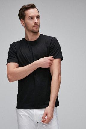GRIMELANGE JACE Siyah Yumuşak Esnek Pamuk Likralı Kumaşlı Basic T-Shirt