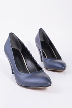 Kuzucuoğlu Ayakkabı Lacivert Renk Klasik Topuklu Ayakkabı