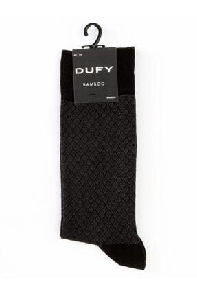 Dufy Siyah Füme Erkek Çorap