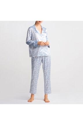 Katia&Bony Çiçek Desenli Saten Kadın Pijama Takımı - Mıx