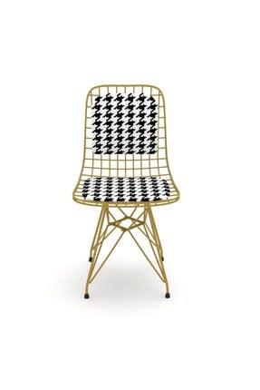 Kenzlife Kafes Tel Sandalyesi 1'Li Mazlum Altkono Sırtminderli Ofis Cafe Bahçe Mutfak
