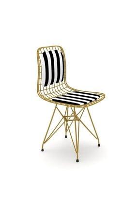 Kenzlife Kafes Tel Sandalyesi 1'Li Mazlum Alttuan Sırt minderli Ofis Cafe Bahçe Mutfak