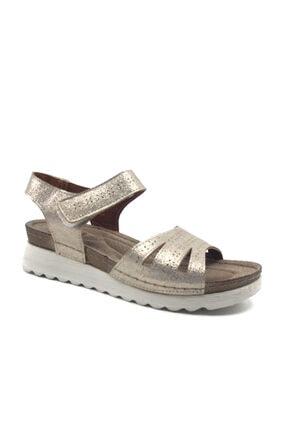 Polaris Altın Ultra Soft Kadın Yazlık Sandalet Ayakkabı 161167