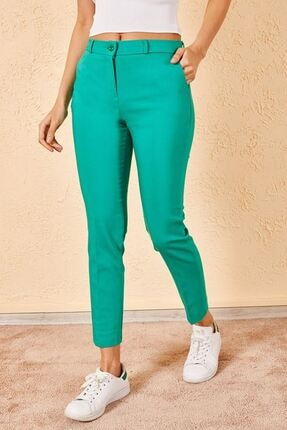 Zafoni Kadın Yeşil Pantolon