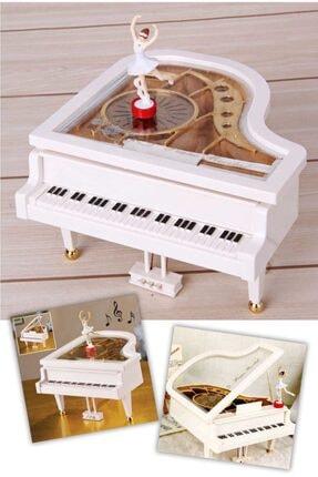 Keyfi Sepet Balerinli Mini Piyano Şeklinde Müzik Kutusu