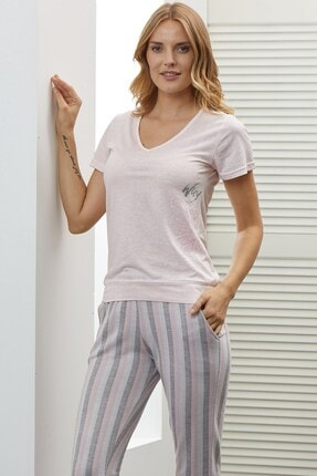 Lohusa Sepeti Rosa Gris Pijama Takımı-40204