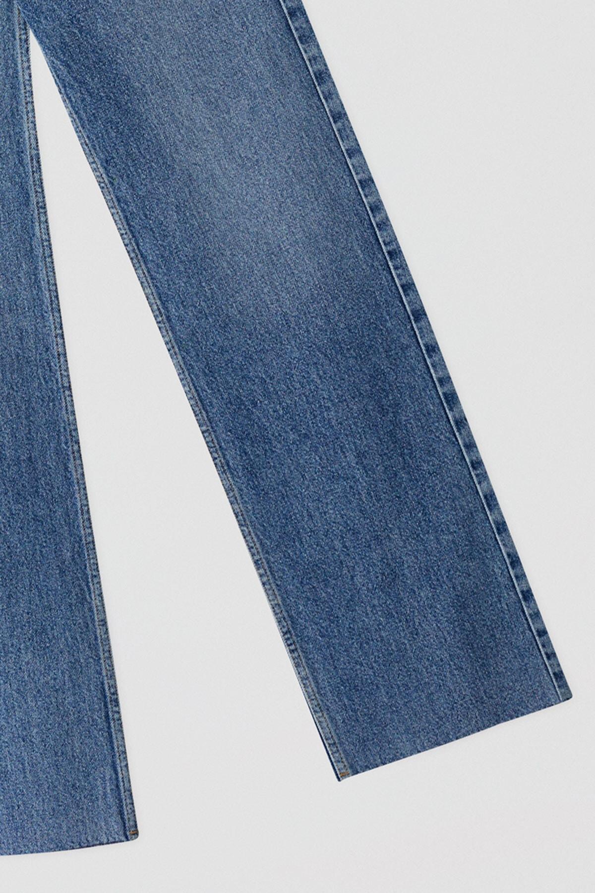 Pull & Bear Kadın Mavi Mavi Yüksek Bel Jean 05684309 2