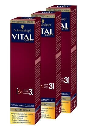 Vital Colors Krem Saç Boyası 6-68 Bronz Kahve X 3 Adet