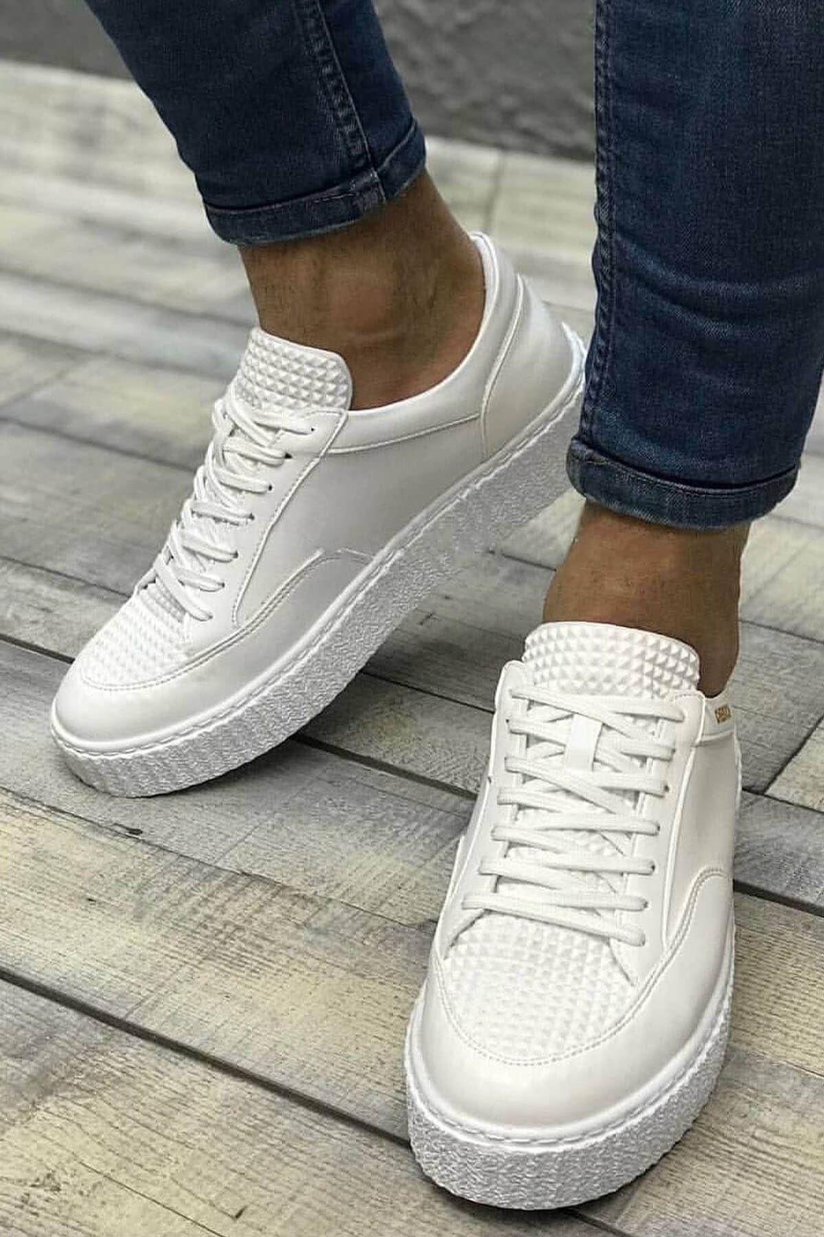 Chekich Bt Erkek Ayakkabı Beyaz Ch017 1