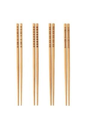 BARBUN Lkea Trebent Yıkanabilir Bambu Chopstıck Japon Çin Yemek Çubuğu