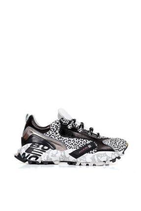 BUENO Shoes Hakiki Deri Baskılı Taban Detaylı Kadın Spor Ayakkabı 20wq10604