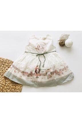 Moonstar Kız Çocuk Ekru Hafif Kabarık Elbise