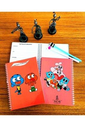 Retina Shop Gumball Darwin Tasarım Haftalık Planlayıcı Defter Planner 144 Sayfa Ajanda