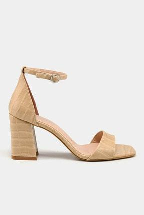Hotiç Bej Kadın Topuklu Sandalet