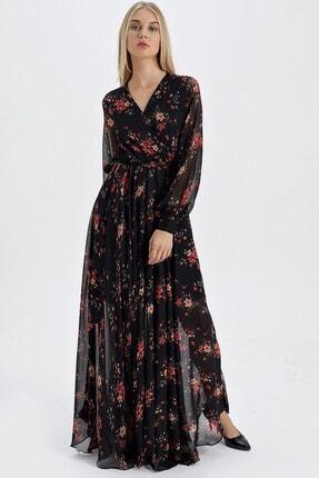 Jument Kadın Kırmızı Çiçek Elbise 15673
