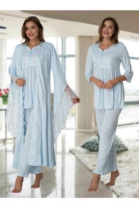 Effort Pijama Lohusa Hamile Pijama Takım Sabahlık 3015