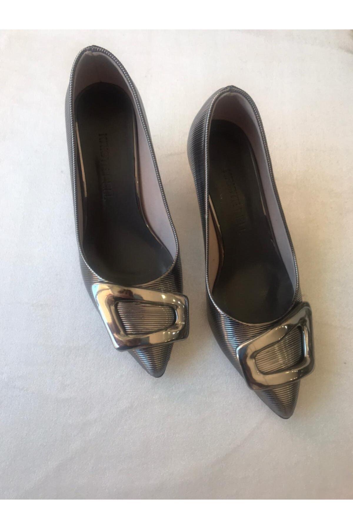 KRISTE BELL Gri Topuklu Kadın Ayakkabı 1