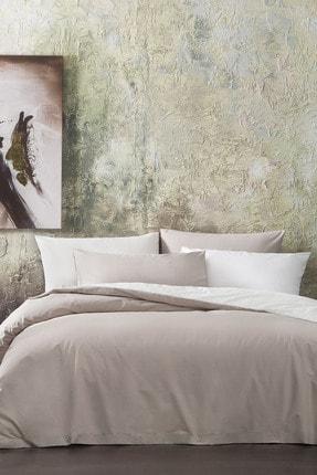 Yataş Bedding Noah Ranforce Çift Kişilik Nevresim Seti - Açık Kahve/Ekru