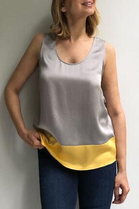 Ebru Günay Kadın Dokuma Bicolor Bluz